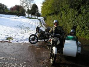 Dave & Sue Boon enjoying the snow